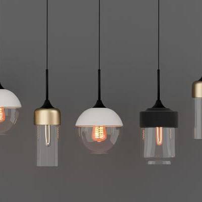 吊灯, 玻璃吊灯, 金属吊灯, 现代吊灯