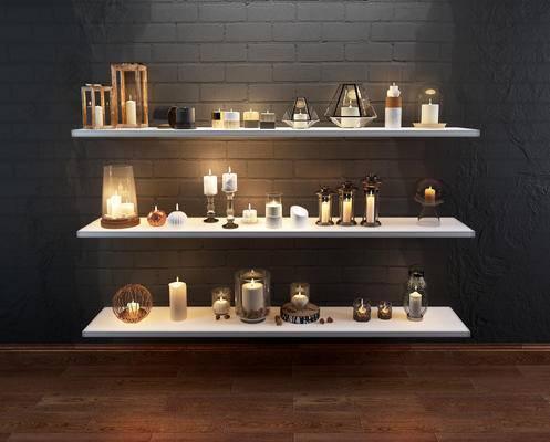 现代, 蜡烛, 烛台