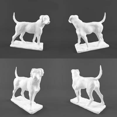 摆件, 动物狗, 雕塑, 现代