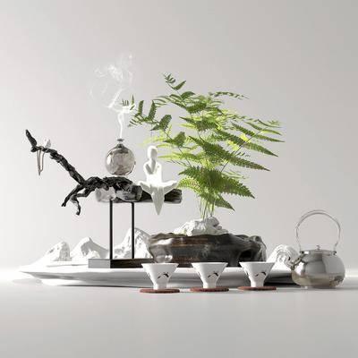 新中式, 盆景, 盆栽, 摆件