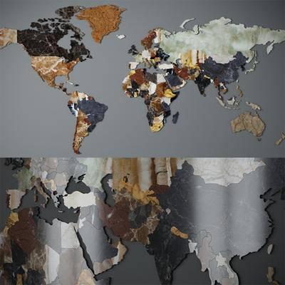 北欧地图, 墙饰
