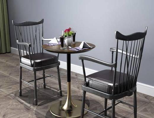 桌椅組合, 擺件組合, 工業風