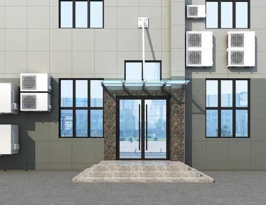 建筑, 石材, 空调, 门头, 门面