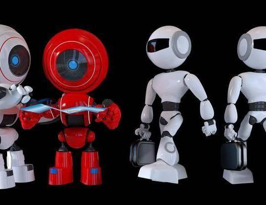 现代, 摆件, 机器人玩具