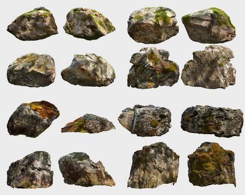 石头, 石块, 现代石头, 青苔