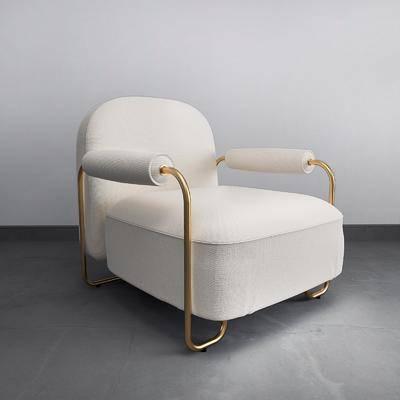 单人沙发, 布艺沙发, 后现代