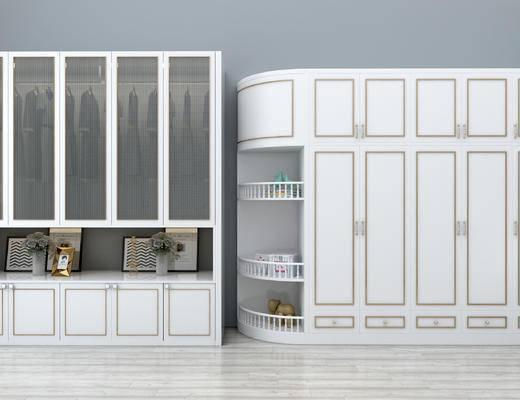 衣柜, 现代, 简欧, 陈设品, 柜