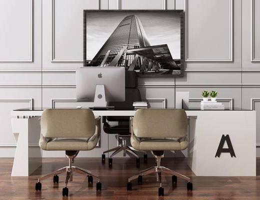 书桌, 写字桌, 洽谈桌, 桌椅组合