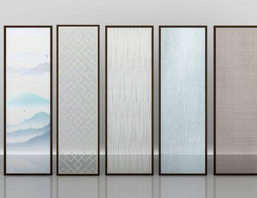 夹丝玻璃, 隔断, 现代