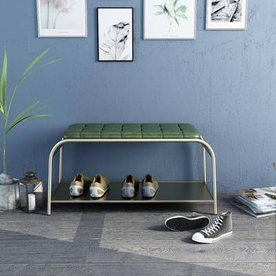 鞋凳, 沙發腳踏, 植物
