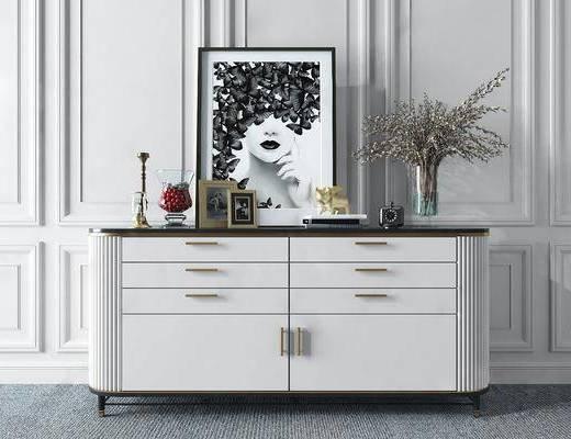 邊柜, 擺件組合, 裝飾畫