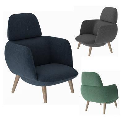 北欧简约, 单椅, 休闲椅