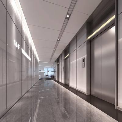 过道, 电梯间
