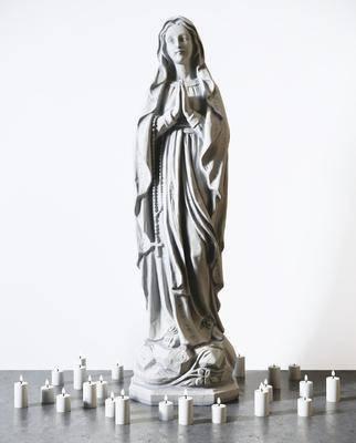 人物雕塑, 蜡烛组合, 雕塑, 雕刻