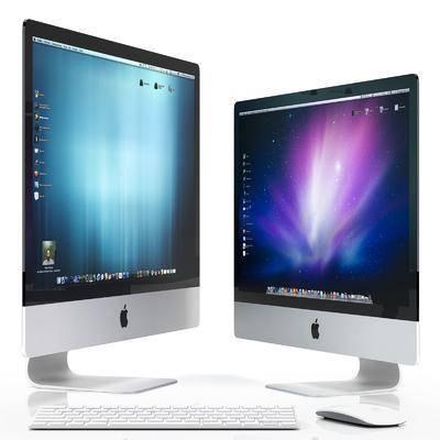 电脑, 鼠标, 键盘, 现代