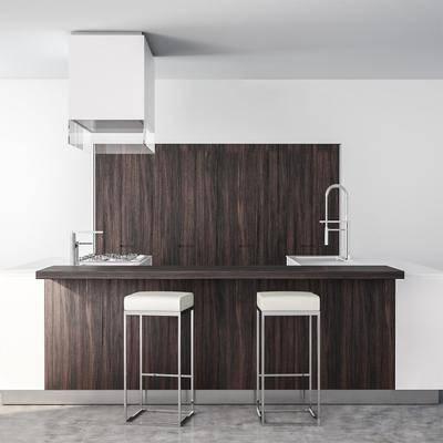 橱柜, 餐柜, 餐椅, 现代
