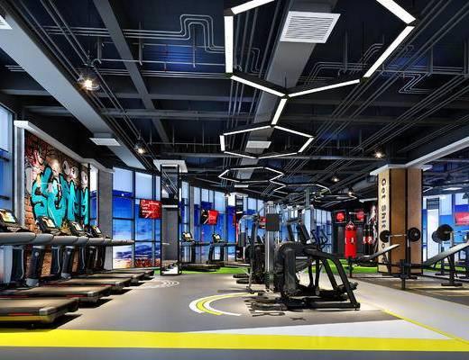 健身房, 运动器材, 工装