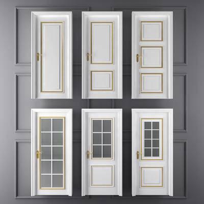 门构件, 门, 单门, 推拉门, 卫生间门, 房门