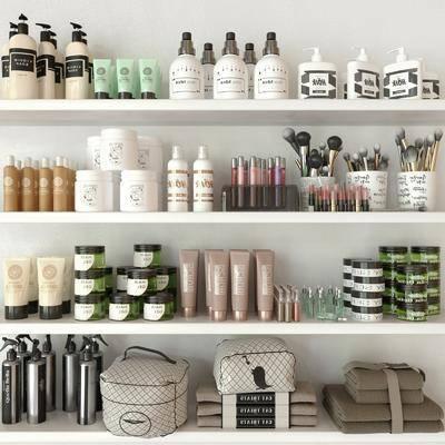 现代化妆品组合, 化妆品, 化妆包, 现代