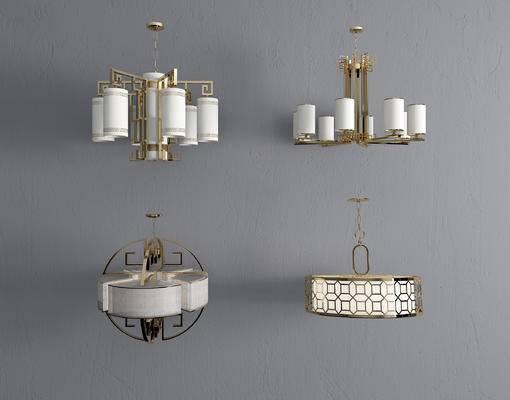 吊灯, 金属吊灯, 新中式吊灯