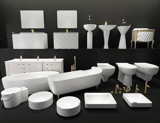 洁具, 卫浴组合, 洗浴用品