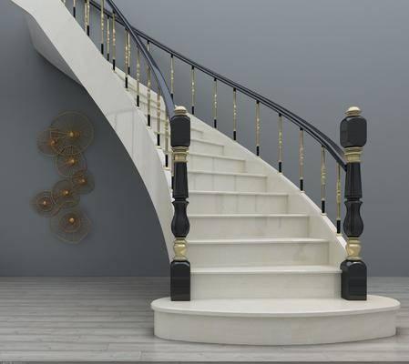 樓梯, 旋轉樓梯, 簡歐樓梯, 簡歐