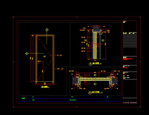 家装施工图, CAD, 平面图, 立面图