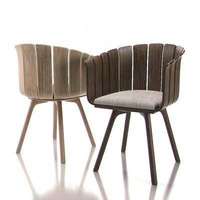 单人椅, 餐椅, 实木椅, 现代