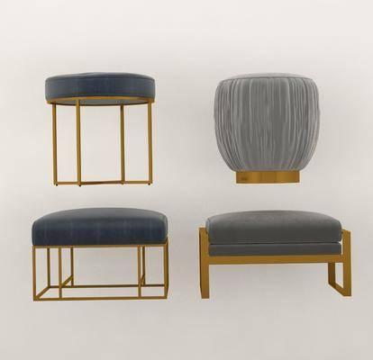 现代沙发凳, 凳子, 椅子, 沙发脚踏