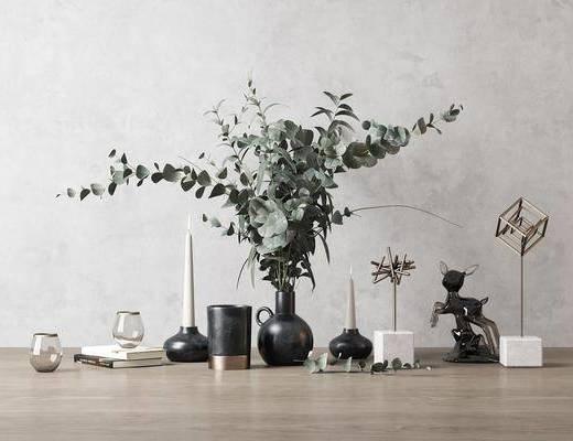 现代, 摆件, 花瓶