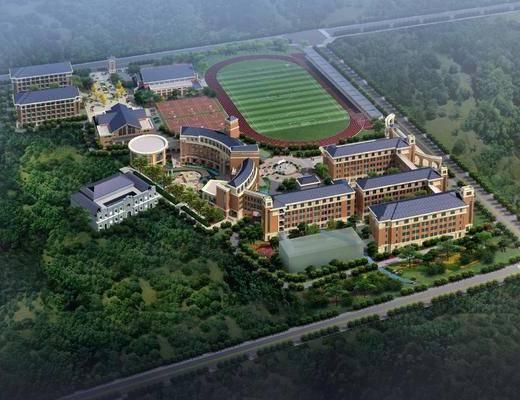 小学教学楼, 建筑外观, 操场, 建筑