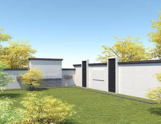 现代围墙, 庭院景观墙