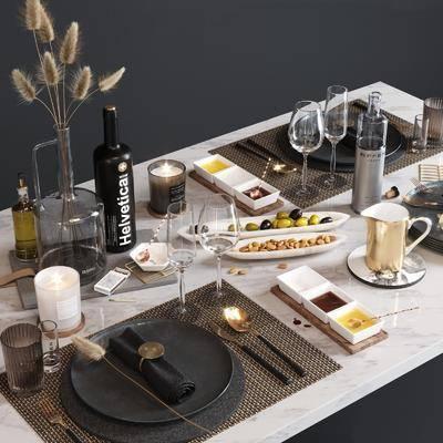 餐具, 摆件组合, 现代