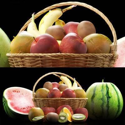现代水果, 现代, 水果, 西瓜, 苹果