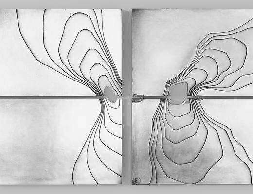 现代艺术造型挂画组合