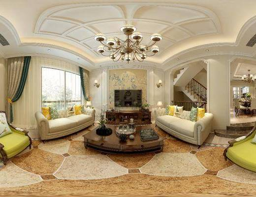 簡美客廳, 客廳, 餐廳, 餐桌椅, 沙發組合