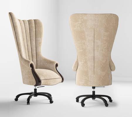 欧式, 椅子, 办公椅