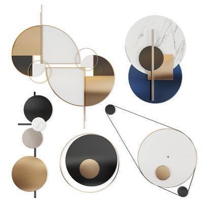 墙饰挂饰, 挂件组合, 现代简约