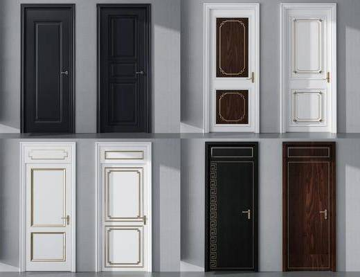 现代门, 木门, 房间门, 平开门
