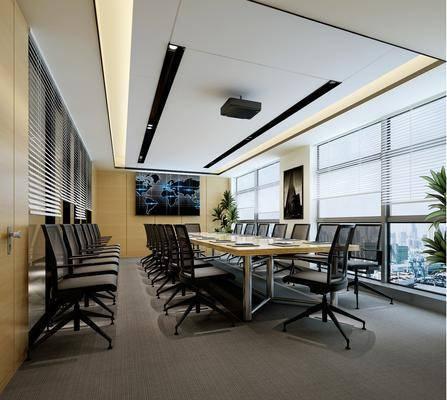 現代會議室, 會議室, 辦公區