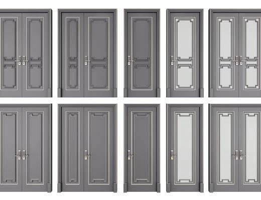 平开门, 双开门, 子母门, 门组合, 新中式