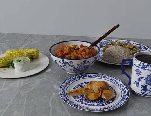 碗碟, 厨具, 食物