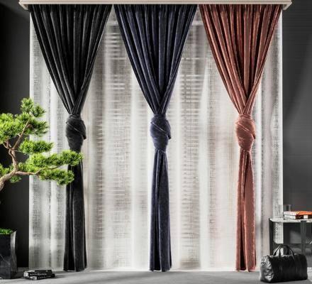 现代窗帘, 窗帘, 布艺窗帘