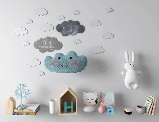 白云, 墙饰, 装饰品