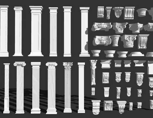 石膏线, 柱子, 罗马柱