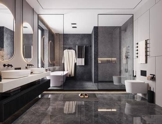 家装, 现代卫生间