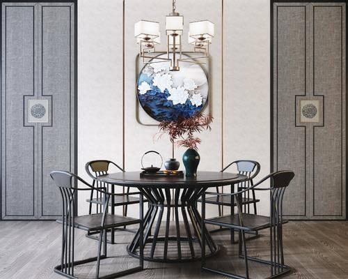 餐桌, 桌椅组合, 墙饰, 摆件组合
