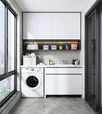 卫浴组合, 阳台, 露台, 洗衣房