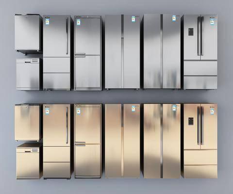 变频冰箱, 智能冰箱, 现代冰箱, 三门冰箱, 电器