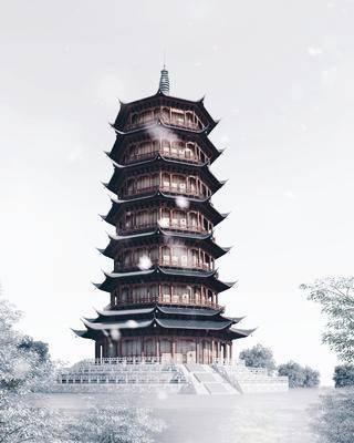 古建筑塔楼, 宝塔, 佛塔, 古塔